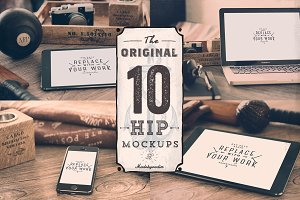 10 Original HIP Mock-ups Bundle