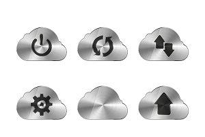 Set of nine metal cloud