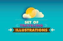 Traveling illustrations.