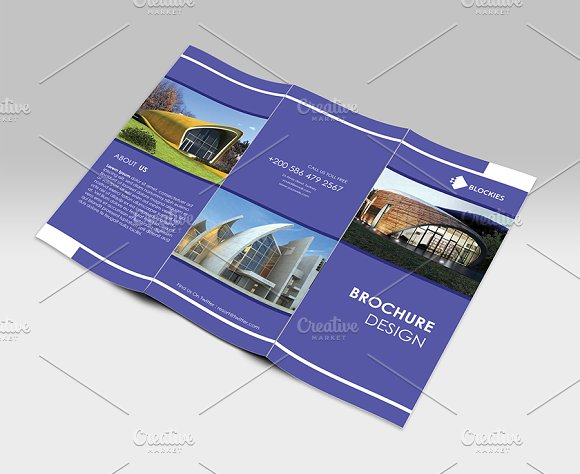 Simple clean tri fold brochure brochure templates on for Simple tri fold brochure template
