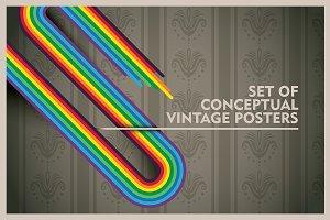 Conceptual vintage posters