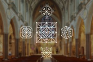 Geometric Cross Logos Vol. 1