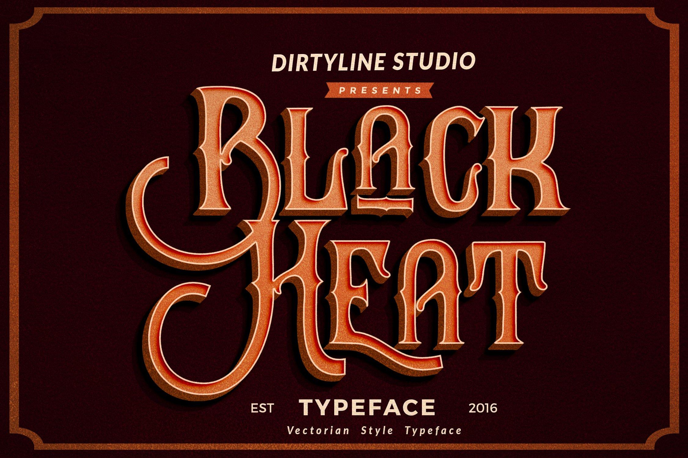 f256d6e67 Black Heat ~ Display Fonts ~ Creative Market