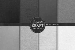 Kraft Paper Texture Pack - Grayscale
