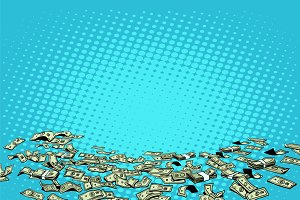 Money dollars vector background