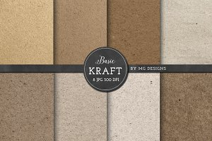 Kraft Paper Texture Pack - Natural
