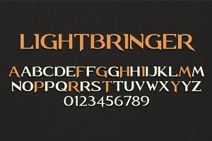 Lightbringer font