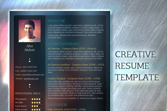 glassed resume template
