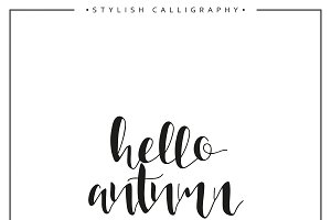 Hello autumn. Calligraphy phrase
