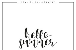 Hello summer. Calligraphy phrase