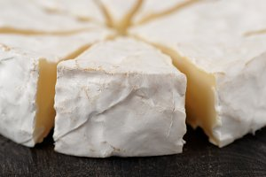 Head of brie cheese