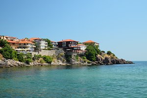 Seaside in town of Sozopol, Bulgaria