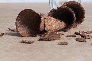Cookies broken cones
