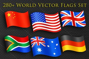 Huge 280+ Vector World Flags Set
