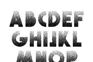 Font Retro Stipple.