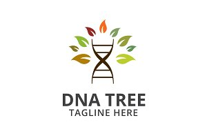 Dna Tree Logo Template