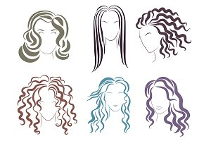 Woman hair styles logo.