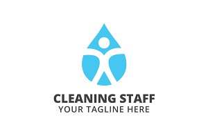 Cleaning Staff Logo Template