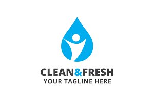 Clean & Fresh Logo Template