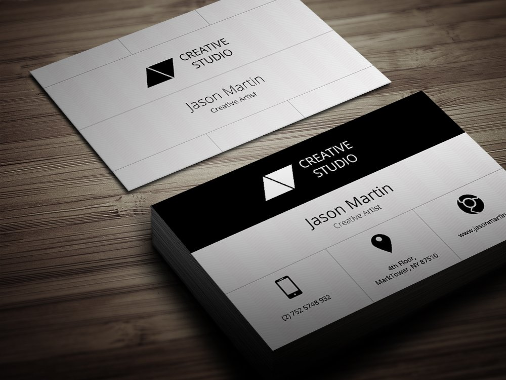 Flat big icons business card business card templates creative market colourmoves