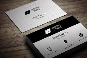 Flat Big Icons Business Card