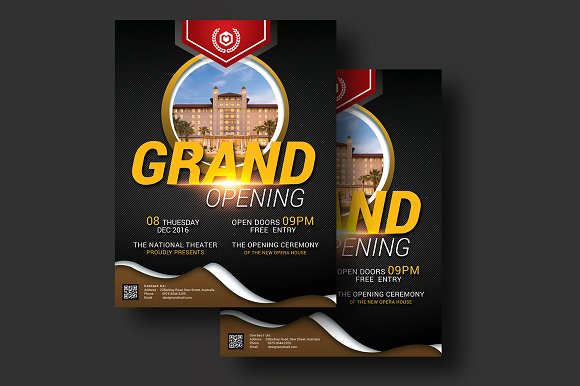 grand opening event flyer flyer templates creative market