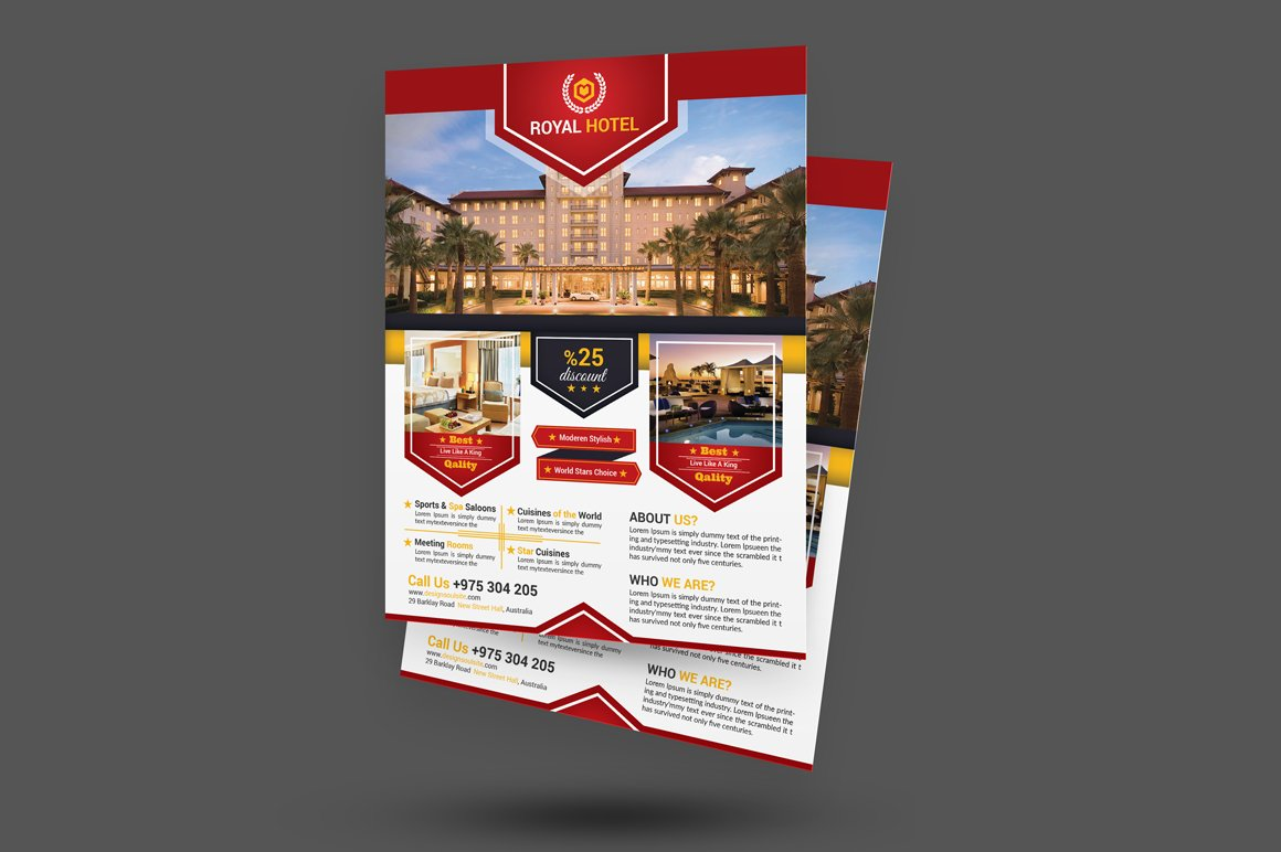Hotel brochure template Photos, Graphics, Fonts, Themes, Templates ...