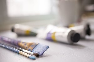 Paint Brushes and Paint Tubes 2