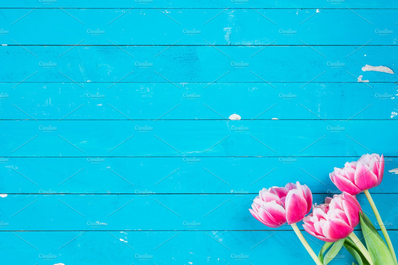 Spring Flowers Background Abstract Photos Creative Market