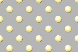 Pearl. Realistic seamless pattern
