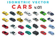 Vector Cars Isometric Flat style v.1
