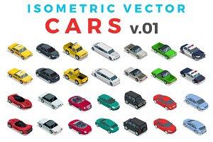 Vector Cars Isometric Flat style v.1