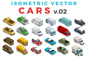 Vector Cars Isometric Flat style v.2