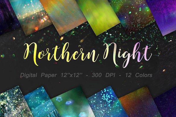 Northern Night Digital Paper
