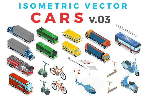 Vector Cars Isometric Flat style v.3 - Graphics