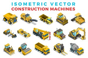 Vector Construction Isometric Flat