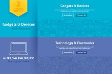 Gadgets & Devices Line Web Banners