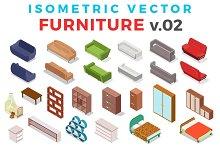 Vector Furniture Isometric Flat v.2