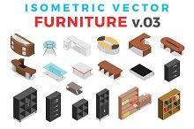 Vector Furniture Isometric Flat v.3