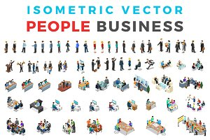Vector Business People Isometric