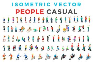 Vector Casual People Isometric Flat