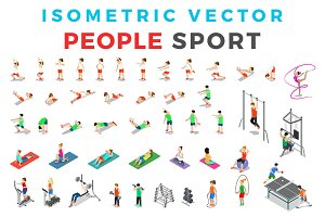 Vector Sport People Isometric Flat