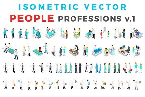 Vector Professions People Isometric