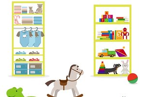 Toys and children clothing shop