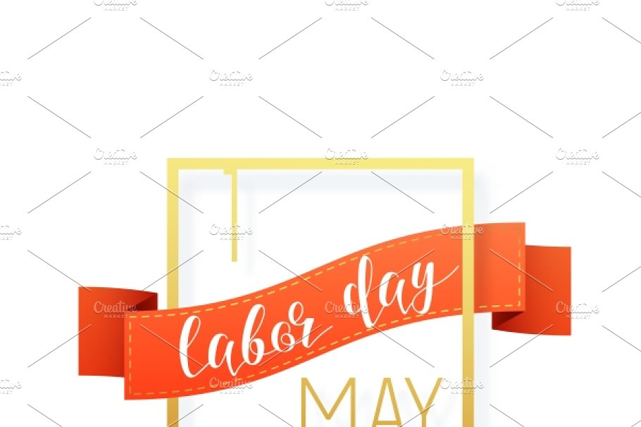 1st May Labor Day Holiday Frame