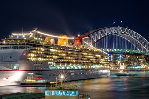 Sydney Harbor with Cruise Ship