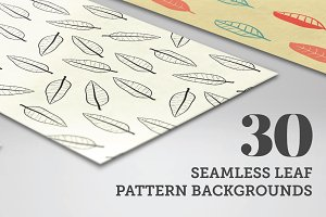 30 Seamless Leaf Patterns