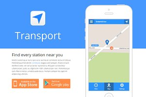 Transport - App Template (HTML/CSS)