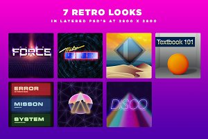 80's Retro Design Pack PSD