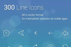 300 Line Icons